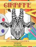 Zen Doodle Coloring Big Picture Animal Giraffe Book PDF