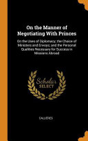 On The Manner Of Negotiating With Princes PDF
