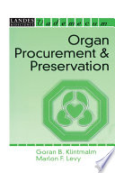 Organ Procurement and Preservation Book