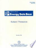 Energy Data Base Book