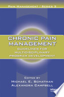 Chronic Pain Management Book