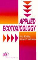 Pdf Applied Ecotoxicology