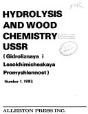 Hydrolysis and Wood Chemistry USSR