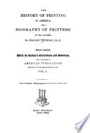 The History of Printing in America Book