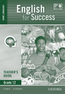 Books - English For Success Home Language Grade 12 Teachers Guide | ISBN 9780199051984