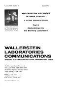 Wallerstein Laboratories Communications
