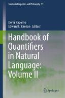 Handbook of Quantifiers in Natural Language
