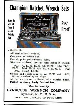 [December, 1915 Notice for Champion No. 2 Socket Set]