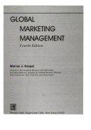 Global Marketing Management Book PDF