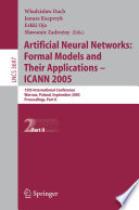 Artificial Neural Networks  Formal Models and Their Applications     ICANN 2005