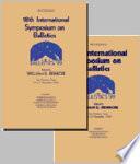 Ballistics 18th International Symposium Book