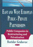 East and West European Public-private Partnerships