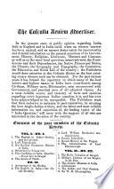 Calcutta Review Book