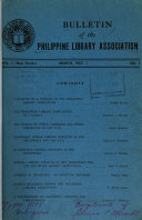 Philippine Library Association New Series Bulletin