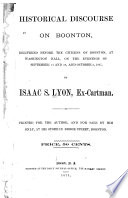 Historical Discourse on Boonton  Delivered Before the Citizens of Boonton at Washington Hall  on the Evenings of September 21 and 28  and October 5  1867 Book PDF