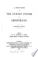 A Text Book Of The Gurney System Of Shorthand Ed By W B Gurney Sons
