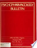 Psychopharmacology Bulletin Book PDF
