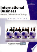 International Business Concept Environment And Strategy Book PDF