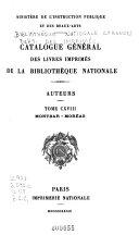 Catalogue general des livres imprimes : auteurs