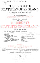 The Complete Statutes of England