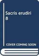Sacris Erudiri 8