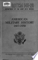 American Military History  1607 1958