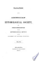 Transactions Of The American Entomological Society And Proceedings Of The Entomological Section Of The Academy Of Natural Sciences Book PDF
