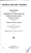 Universal military training Pdf/ePub eBook
