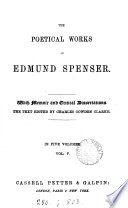 The poetical works of Edmund Spenser  With mem  and critical diss   by G  Gilfillan