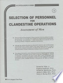 Selection of Personnel for Clandestine Operations
