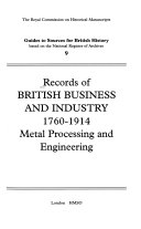 Records of British Business and Industry, 1760-1914
