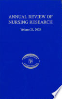 Annual Review Of Nursing Research Volume 21 2003