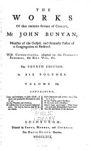 The works of that eminent servant of Christ, Mr. John Bunyan