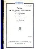 Missa, O magnum mysterium