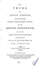 The Trial of Joseph Gerrald Pdf/ePub eBook