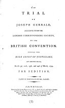 Pdf The Trial of Joseph Gerrald, Delegate from the London Corresponding Society to the British Convention
