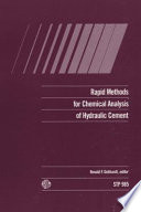 Rapid Methods For Chemical Analysis Of Hydraulic Cement Book PDF
