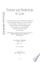 Theory and Principles of Law