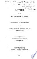 A letter ... on the arrangement of Irish records and the assimilation of Irish to English statute law Pdf/ePub eBook