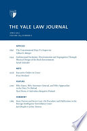 Yale Law Journal Volume 124 Number 6 April 2015