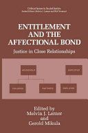 Entitlement and the Affectional Bond ebook