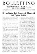 Bollettino dell'Opera nazionale Balilla