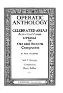 Operatic anthology  Soprano