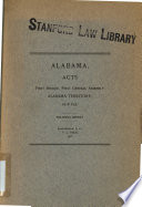 Acts Passed At The Session Of The First General Assembly Of The Alabama Territory