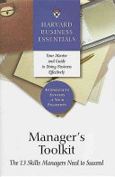 Cover of Manager's Toolkit