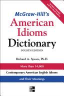 McGraw-Hill's Dictionary of American Idioms Dictionary [Pdf/ePub] eBook