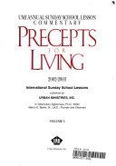 Precepts for Living  2002 2003