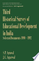 Third Historical Survey of Educational Development in India  : Select Documents, 1990-1992