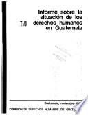Informe sobre la situación de los derechos humanos en Guatemala