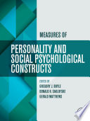 """Measures of Personality and Social Psychological Constructs"" by Gregory J. Boyle, Donald H. Saklofske, Gerald Matthews"
